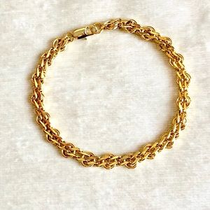 NWOT Italian Gold GF interlocking link Bracelet